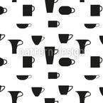 Kleine und große Tassen Nahtloses Vektormuster