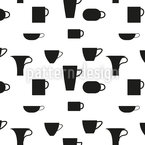 Small And Big Cups Seamless Vector Pattern