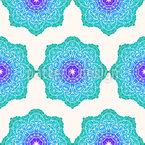 Leuchtende Kreise Musterdesign