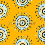 Doodle-Mikroorganismus Nahtloses Vektormuster