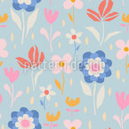 Cute Flowering Seamless Vector Pattern