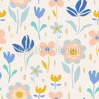 Fröhliches Blühen Vektor Muster