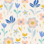 Joyful Flowering Vector Pattern