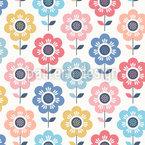Valle de las Flores Estampado Vectorial Sin Costura