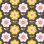 花の谷 シームレスなベクトルパターン設計