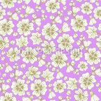 Malva Flores Quimono Design de padrão vetorial sem costura
