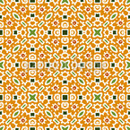 Crosswise In Squares Seamless Vector Pattern Design