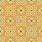 Crosswise Em Quadrados Design de padrão vetorial sem costura