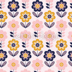 Floral Birthday Seamless Vector Pattern Design