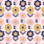 Aniversário Floral Design de padrão vetorial sem costura