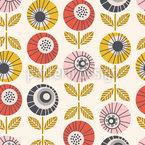 Blossom-Eyes Seamless Vector Pattern Design