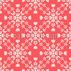 Snowflakes Chaining Seamless Pattern