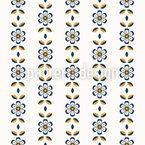 Schattenblumen Bordüre Nahtloses Vektor Muster