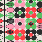 Stylized Flower Bordure Vector Pattern