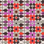 Bordure Flora Estilizado Design de padrão vetorial sem costura