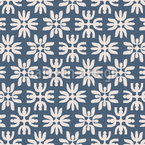 Snow Flowers Repeat Pattern