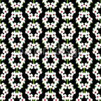 Threaded Flower Wreaths Pattern Design