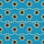 Schwimmende Dreiecke Nahtloses Vektormuster