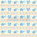 Blaue Elefanten Nahtloses Vektormuster