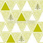 Dreiecks Weihnachtsbäume Nahtloses Vektormuster