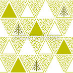 Triangle Christmas Trees Seamless Vector Pattern Design