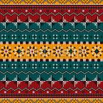 Balkan Style Seamless Vector Pattern Design