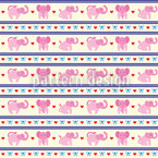 Pink Elephants Seamless Pattern