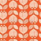Retro Tulips Seamless Pattern