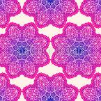 Leuchtende Mandala Blumen Nahtloses Vektormuster