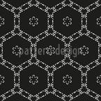 Grade Hexagonal Design de padrão vetorial sem costura