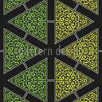 Riscas e triângulos manchados Design de padrão vetorial sem costura
