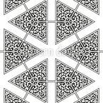 Enfeite Ornamental Design de padrão vetorial sem costura