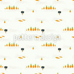 Carrots On A Garden Bed Seamless Vector Pattern Design