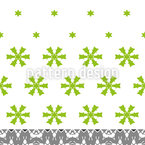 Unusual Snowfall Seamless Pattern