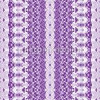 Bordado Ornamental Bohemio Estampado Vectorial Sin Costura