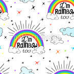 I am Rainbow Repeating Pattern