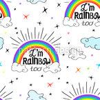 Ich bin Regenbogen Nahtloses Vektormuster