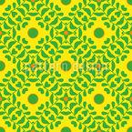 Folhas de escal Design de padrão vetorial sem costura