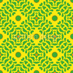 Climbing Leaves Seamless Vector Pattern Design