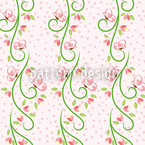 Butterfly Visit Bordure Pattern Design