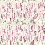 Lavendel-Feld Nahtloses Vektormuster