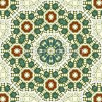 Adorno ornamental apretado Estampado Vectorial Sin Costura