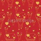 Heißluftballon Herzen Musterdesign