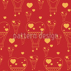 Hot air ballooning hearts Pattern Design