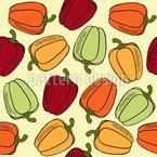 Für Gemüse-Liebhaber Nahtloses Vektormuster