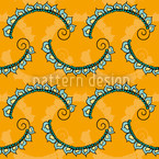 Oriental Lace Seamless Vector Pattern Design