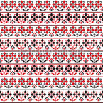 Traditional Romanian Embroidery  Seamless Pattern
