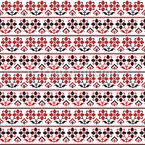 Traditionelle rumänische Stickerei Nahtloses Vektormuster
