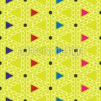 Cheerful Triangles Seamless Vector Pattern Design