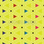 Fröhliche Dreiecke Nahtloses Vektormuster
